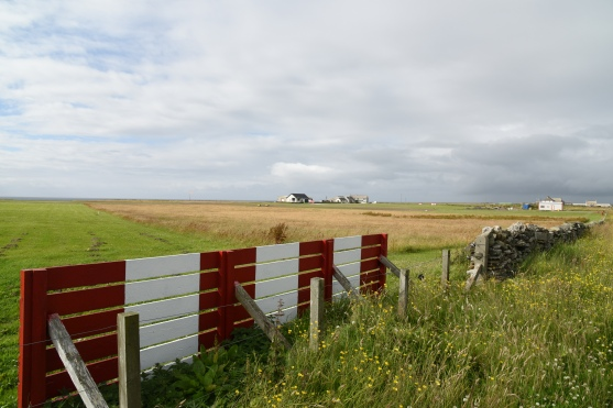 A view of North Ron airfield from the high-security perimeter fencing